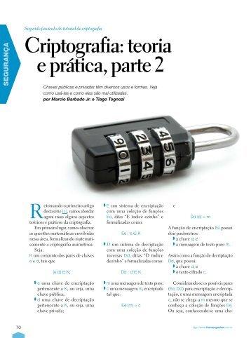 Criptografia: teoria e prática, parte 2 - Linux New Media