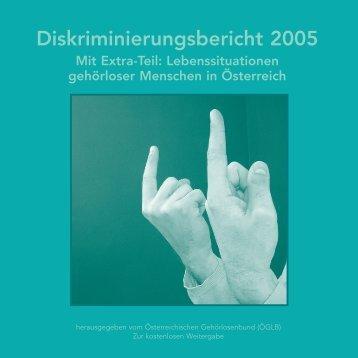 Diskriminierungsbericht 2005 - Österreichischer Gehörlosenbund