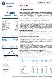 KGHM - rekomendacja podniesiona do KUPUJ ... - PKO BP SA BDM