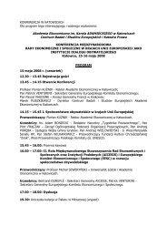 Program międzynarodowej konferencji - Fundacja Kultury ...