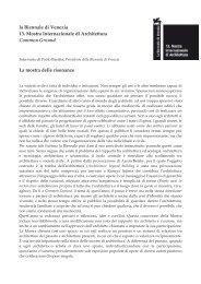 cartella stampa - La Biennale di Venezia