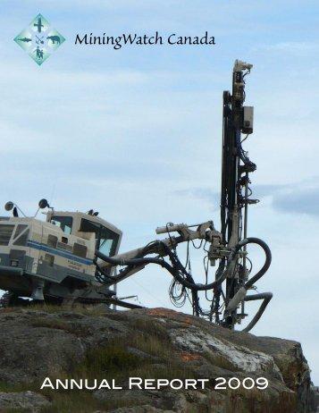 Annual Report 2009 - MiningWatch Canada