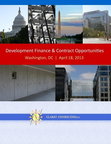 Development Finance & Contract Opportunities - Claret Consulting