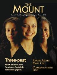 Three-peat - Mount St. Mary's College