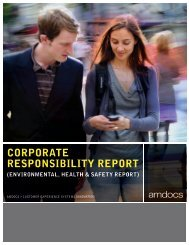 CSR Annual Report 2010 - Amdocs