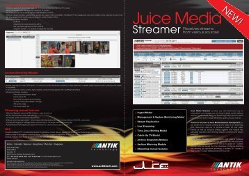 Juice media streamer - Antik Technology