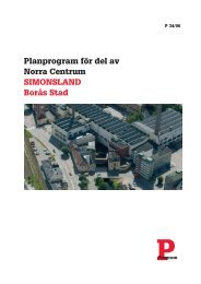 Planprogram för del av Norra Centrum SIMONSLAND Borås Stad