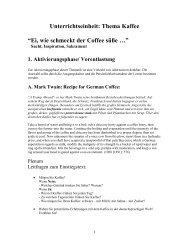 """Unterrichtseinheit: Thema Kaffee """"Ei, wie schmeckt der Coffee süße ..."""