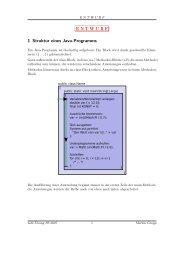 ENTWURF 1 Struktur eines Java-Programms