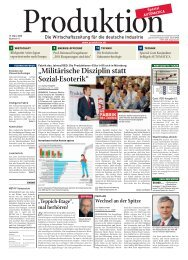 """Militärische Disziplin statt Sozial-Esoterik"" - Produktion.de"