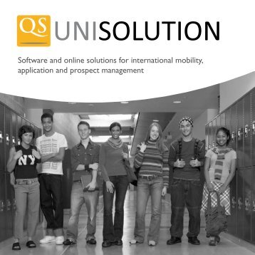 Software and online solutions for international ... - QS unisolution