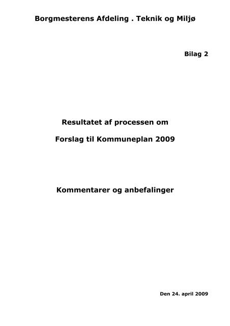 Borgmesterens Afdeling . Teknik og Miljø - Velkommen til Århus ...