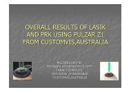 overall results of lasik and prk using pulzar z1 from customvis,australia