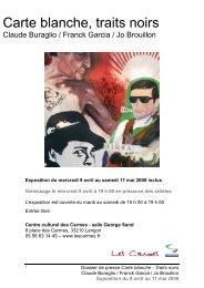 Voir le dossier de l'exposition - Centre Culturel des Carmes