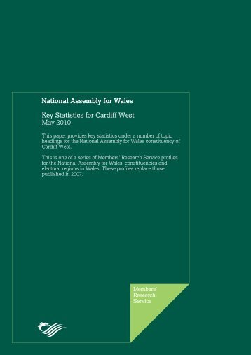 Key Statistics for Cardiff West - National Assembly for Wales