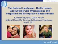 The National Landscape: Health Homes, Accountable Care ...
