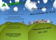 Programme de la Maison de quartier des Passons 2011-2012