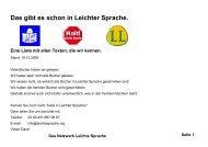 Bücherliste Leichte Sprache - Mensch zuerst - Netzwerk People First ...
