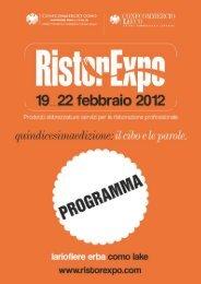 Domenica 19 e lunedì 20 Febbraio - RistorExpo