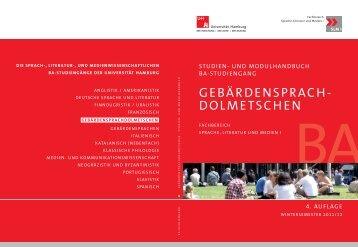 GEBÄRDENSPRACH- DOLMETSCHEN - SLM - Universität Hamburg