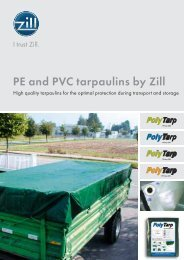 PE and PVC tarpaulins by Zill - Zill GmbH & Co. KG
