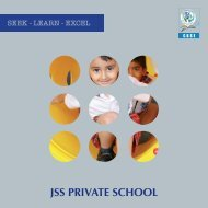 Click here to download the School Brochure - JSS Private School