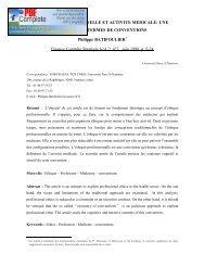 Éthique professionnelle et activité médicale - EconomiX