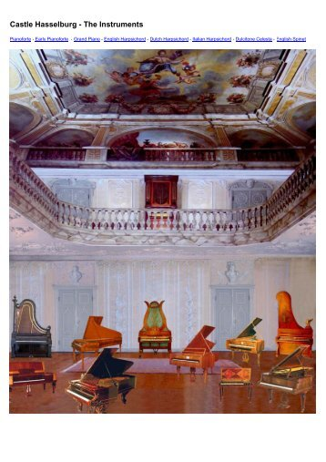 to download Castle Hasselburg - The Instruments (PDF) - Time+Space