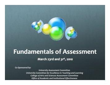 Fundamentals of Assessment Presentation