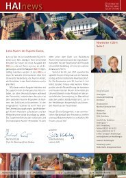 HAInews - Medizinische Fakultät Mannheim - Universität Heidelberg
