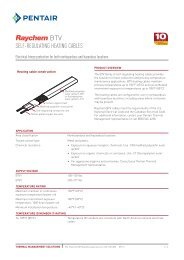 Self-regulating heating cableS - Pentair Thermal Management