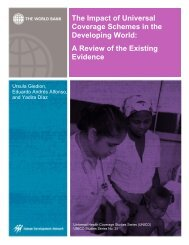 The Impact of Universal Coverage Schemes in the - World Bank ...