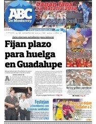 Fijan plazo para huelga en Guadalupe - Periodicoabc.mx