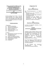 Ordnung für die Durchführung des Weiterbildungsprogramms ...