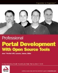 Portal Development with Open Source Tools(pdf) - DOC SERVE