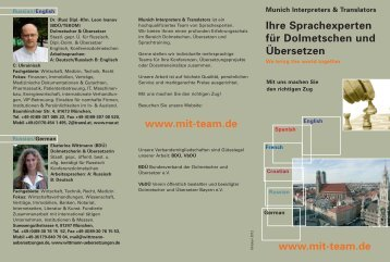 MIT Flyer 2012-16.10 - Munich Interpreters & Translators