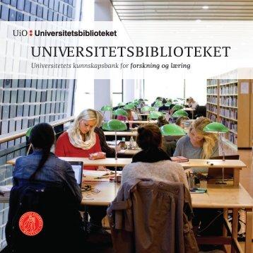 Universitetsbiblioteket presenterer seg i bilder og tekst