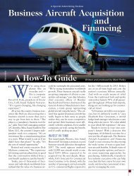 Business Aircraft Acquisition and Financing - Forbes Special Sections