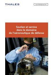 Soutien et service dans le domaine de l ... - Thales Group