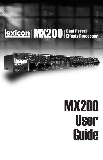 MX200 User Guide - Tpa-az.com