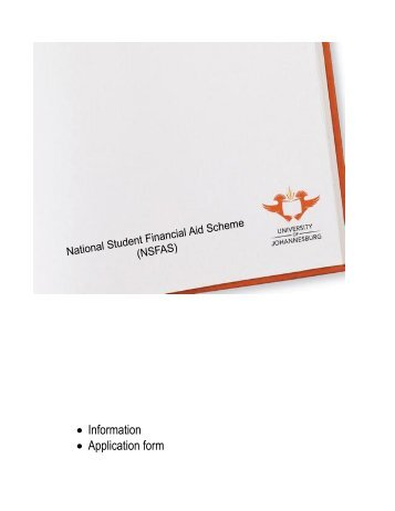 • Information • Application form - University of Johannesburg