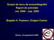 Raport activitate GLE Sinaia 2009