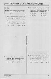 6. sınıf coşmaya soruları