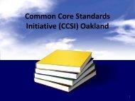 Common Core Standards Initiative - Farmington Public Schools