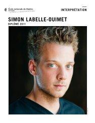 SIMON LABELLE-OUIMET - École nationale de théâtre