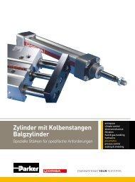 Zylinder mit Kolbenstangen Balgzylinder - parker-origa.com