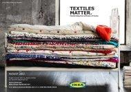 TEXTILES MATTER. - IKEA Catalog 2013