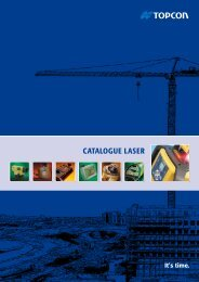 CATALOGUE LASER - Topcon Positioning