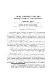 Autour de la modélisation dans l'enseignement des mathématiques