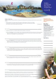 Safety Surfacing Check List - Wicksteed Leisure Limited